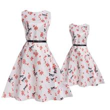 family matching clothes mother daughter dresses big sister little sister baby girl fashion summer clothing print floral casual