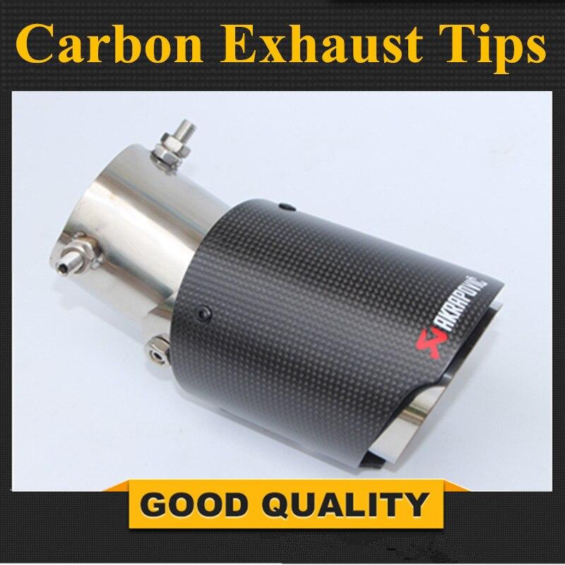 1 PC universel Akrapovic embouts en Fiber de carbone tuyau d'échappement modifié pour Ford Toyota Renault Opel Automobiles accessoires de style de voiture