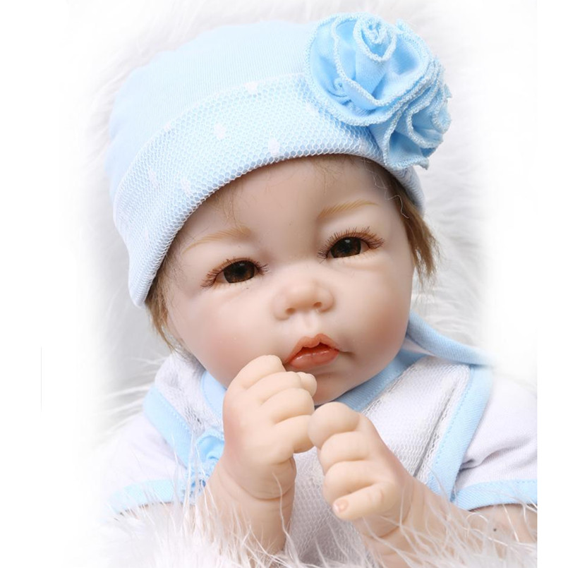 47CM Silicone Reborn Baby Doll Kids Playmate Gifts For Girl 19 Inch Baby Alive Soft Toys For Bouquets Doll Baby Reborn Boy Dolls