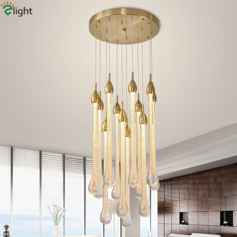 Ceiling Lights & Fans Lovely Lighting Crystal Lamp Penthouse Floor Villa Hotel Lobby Lamp Engineering Lamp Customization Chandeliers Lmy-098