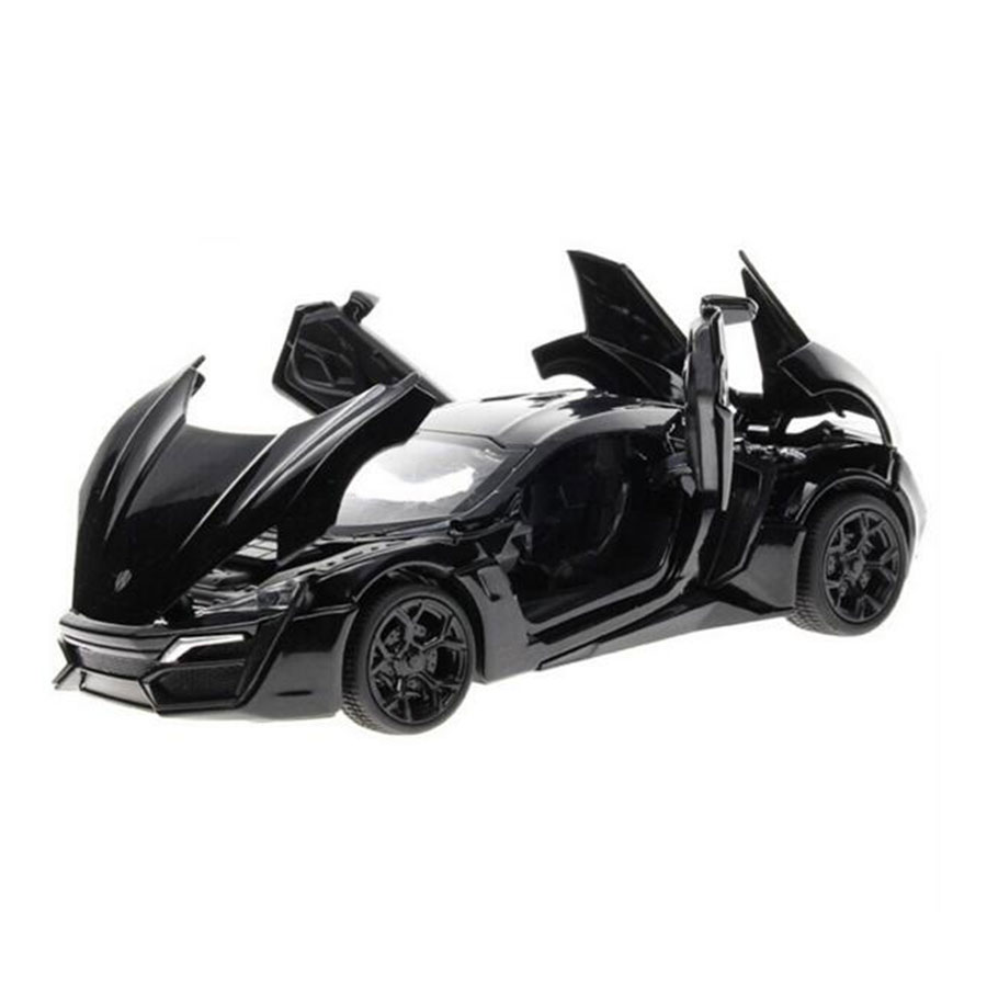 miniatura de carro fast and furious 7 model car 132 alloy diecast lykan hypersport pull back with electronic toy cars kids toys