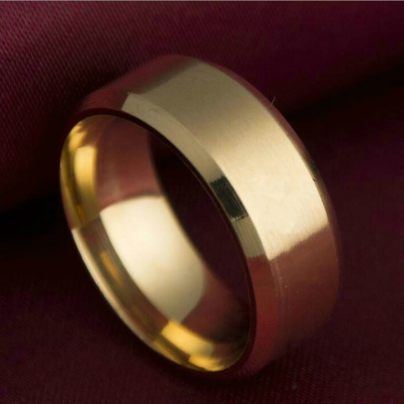 Gold rings for women Ring Men Titanium Black / Silver Ring /3 color