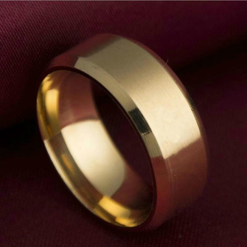Gold rings for women Ring Men Titanium Black Silver Ring 3 color