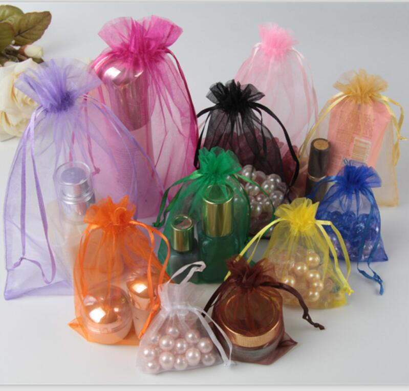 Hot 1000pcs Organza Bags 11x16 13x18 15x20 17x23cm Christmas/Wedding/BirthdayJewelry/Gift Packing Drawstring Bags Free Shipping-in Jewelry Packaging & Display from Jewelry & Accessories    1