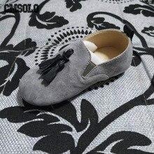 CMSOLO/Обувь для маленьких девочек, Осенняя детская обувь без шнуровки, новые модные детские лоферы, свадебная обувь в британском стиле, детская обувь на плоской подошве с кисточками