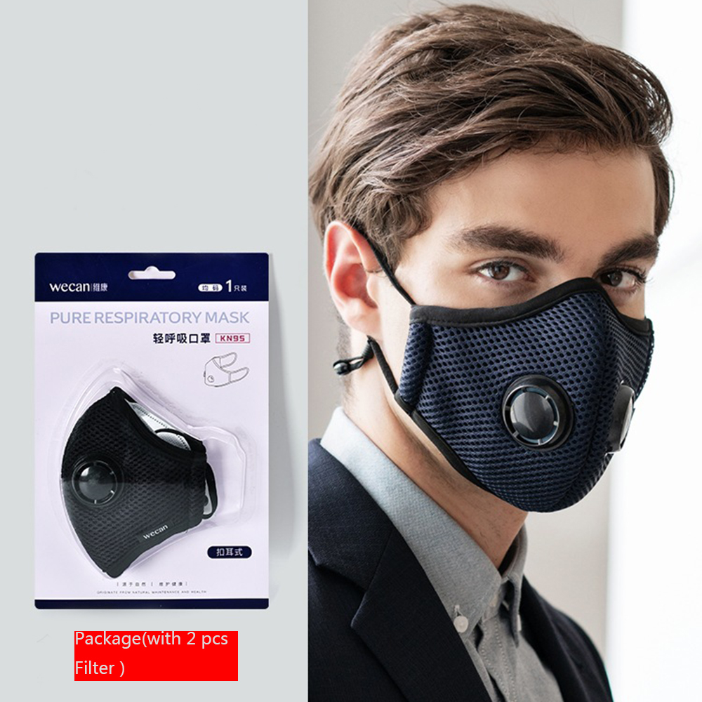 Personal Health Care 1pcs Pm2.5 Kids Cotton Face Mouth Mask With 2 Filters Dust-proof Breathable Carbon Anti-haze Respirator Mouth-muffle Cover Masks