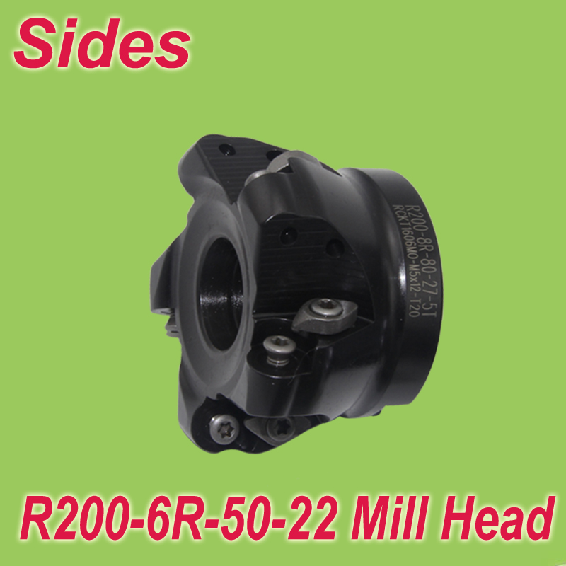 Free Shiping R200 6R 50-22-4T 1'' Face Mill Head Cutter Shell Mill 50mm for RCKT1204MO