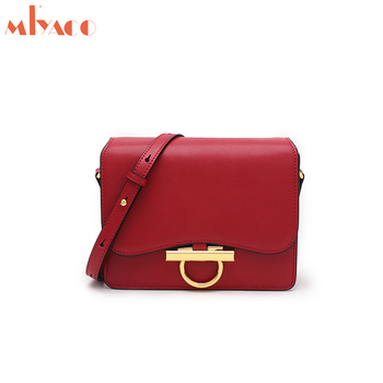 MIYCAO Brand Genuine Leather CrossBody Bags for Women Casual Messenger Bag High Quality Shoulder Bags for Girls Lock