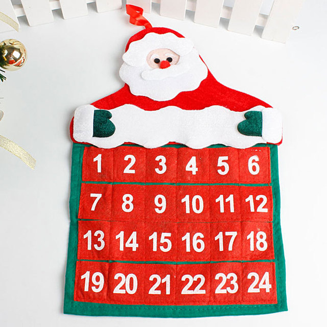 new christmas countdown calendar santa claus snowman deer hanging advent calendar decorations for home 2017