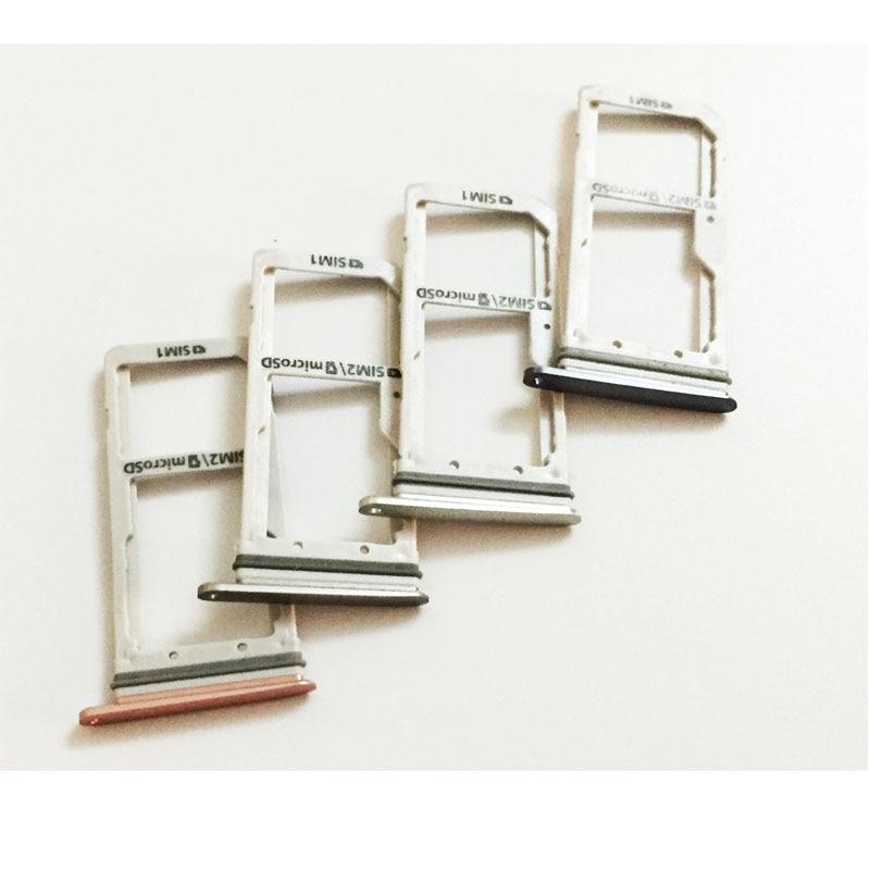 2 Pcs/lot, Dual / Single  SIM Card Tray Slot Holder For Samsung Galaxy S7 Edge G935 Sim Tray Silver/Grey/ Gold/Pink
