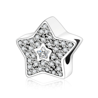 Five Pointed Star 925 Silver Bead Fit Original Pandora Charm Bracelet DIY Accessories Beads For Jewelry