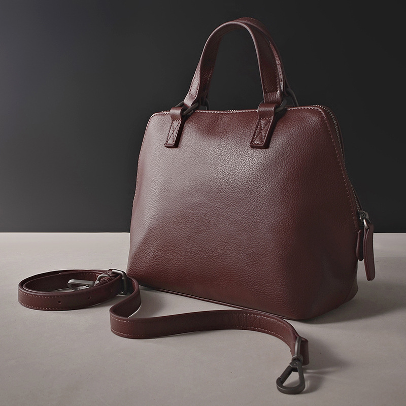 ФОТО 2017 Designer Female Bussiness Bags Retro Handbags Women Shoulder Bag Ladies Ol Genuine Leather Tote Handbags Cowhide Simple Bag