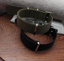 Caliente venta! llegó el nuevo 2 colores disponibles – venta al por mayor 1 unids alta calidad 18 MM Nylon reloj banda de la otan correas correa de reloj resistente