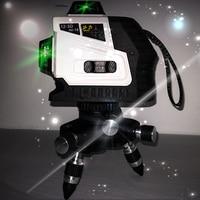 3D12 lazerLevellinhanivelgreenLaser 360Cruz Super Poderoso Feixe de Laser verde Self Leveling construction niveau laser rotatif