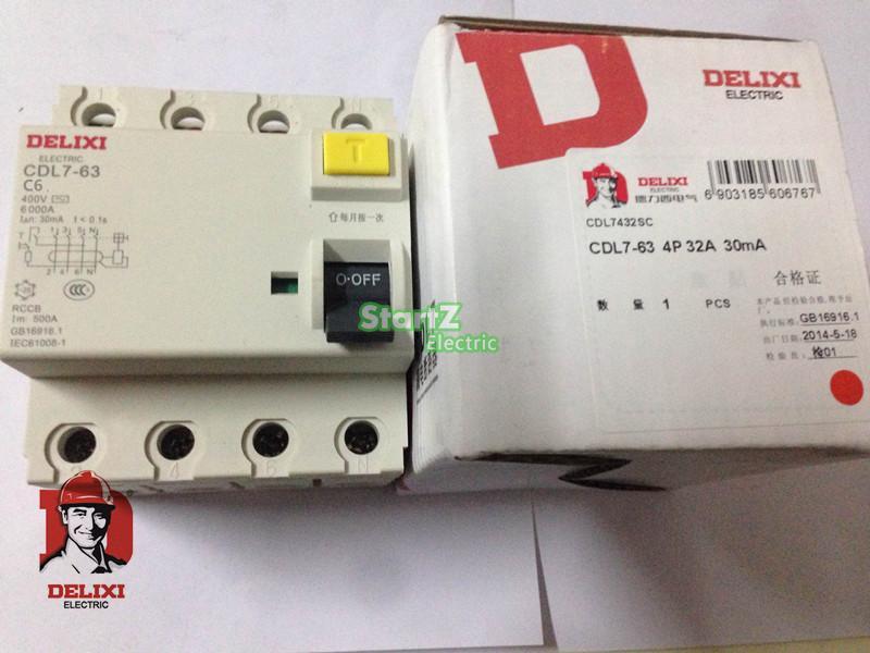 16A 4P  RCCB Circuit Breaker  CDL7-63  DELIXI16A 4P  RCCB Circuit Breaker  CDL7-63  DELIXI