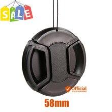 58 мм Защитная передняя крышка бленда крышка объектива камеры для Nikon sony Canon EOS 1300D 1200D 800D 760D 750D 700D 650D 600D 100D 80D 70D