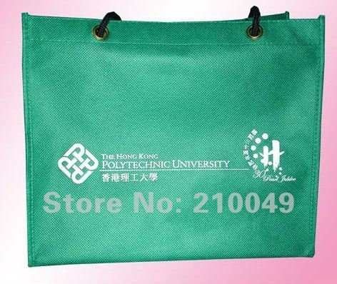 Promotional nonwoven bags for shopping