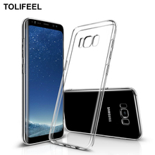 Здесь можно купить  TOLIFEEL For Samsung Galaxy S8 Case Transparent Clear Soft TPU Silicone Cover For Samsung Galaxy S8 Plus Galaxy S8 Cover Coque