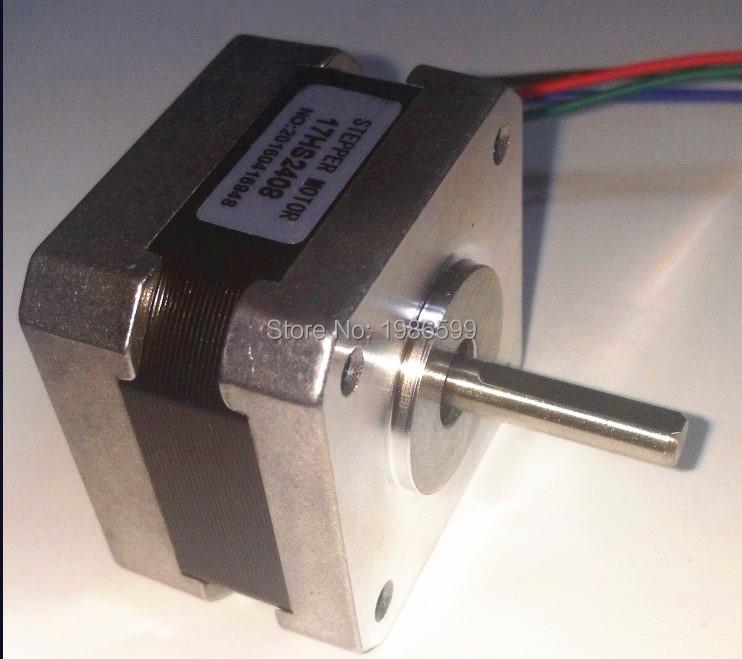 17HS2408 4-lead Nema 17 Stepper Motor 42 motor 42BYGH 0.6A CE ROSH ISO CNC Laser Grind Foam Plasma Cut 4 lead nema 17 stepper motor 42byghw609 56oz in 38mm 1 5a ce rosh iso cnc laser grind foam plasma cut