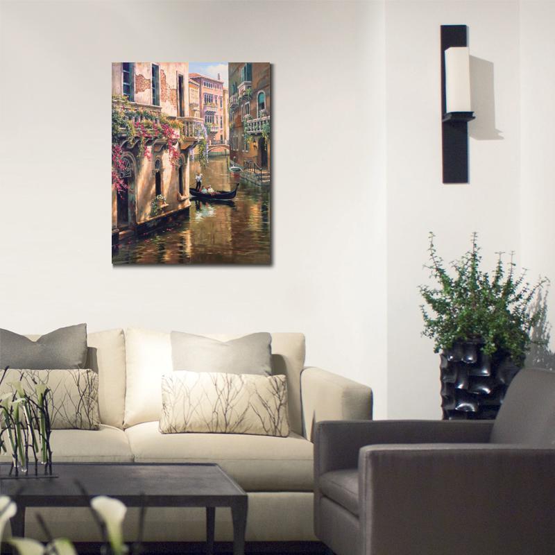 Pitture moderne per pareti decorare le pareti con for Pittura soggiorno