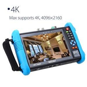 "Image 2 - SEESII 7""Touch Screen H.265 IP Camera Tester 4K 1080P IPC Camera CCTV TVI CVI AHD SDI CVBS HDMl PTZ Control Analog Video Test"