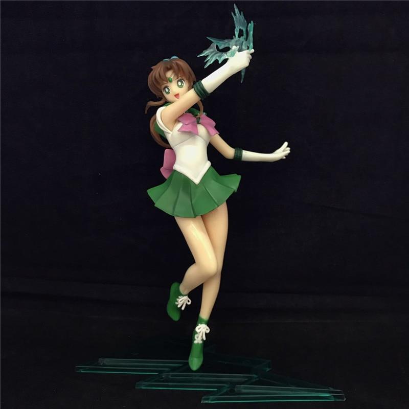 Japan Anime Sailor Moon Sailor Jupiter Kino PVC Action Figure Collectible Model Doll 23CM Anime Figure Brinquedos Free Shipping комплектующие для упаковки pvc abs plastic anime sailor moon action figure
