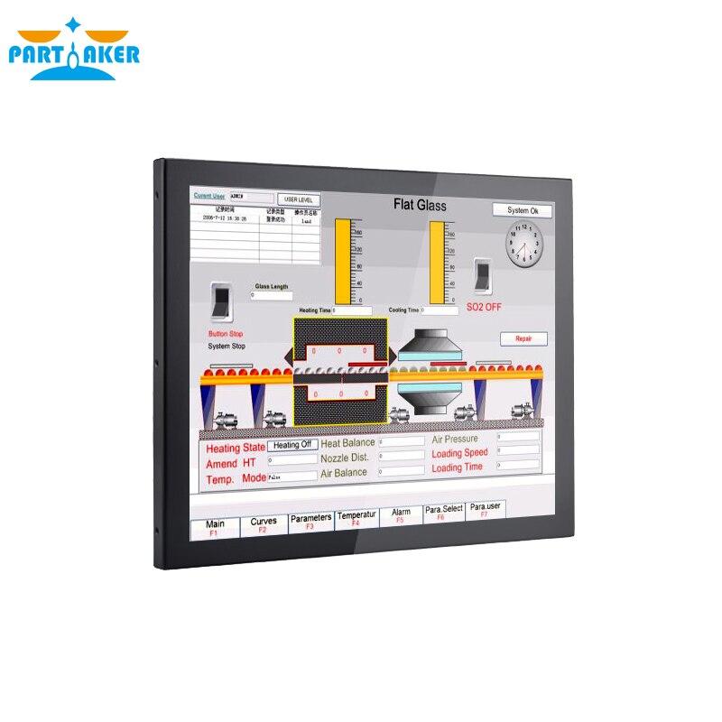 19 Inch Partaker Z16 Intel Celeron J1800 Dual Core 3*RS-232 10 Points Capacitive Touch Screen Mini Panel PC 4G RAM 64G SSD