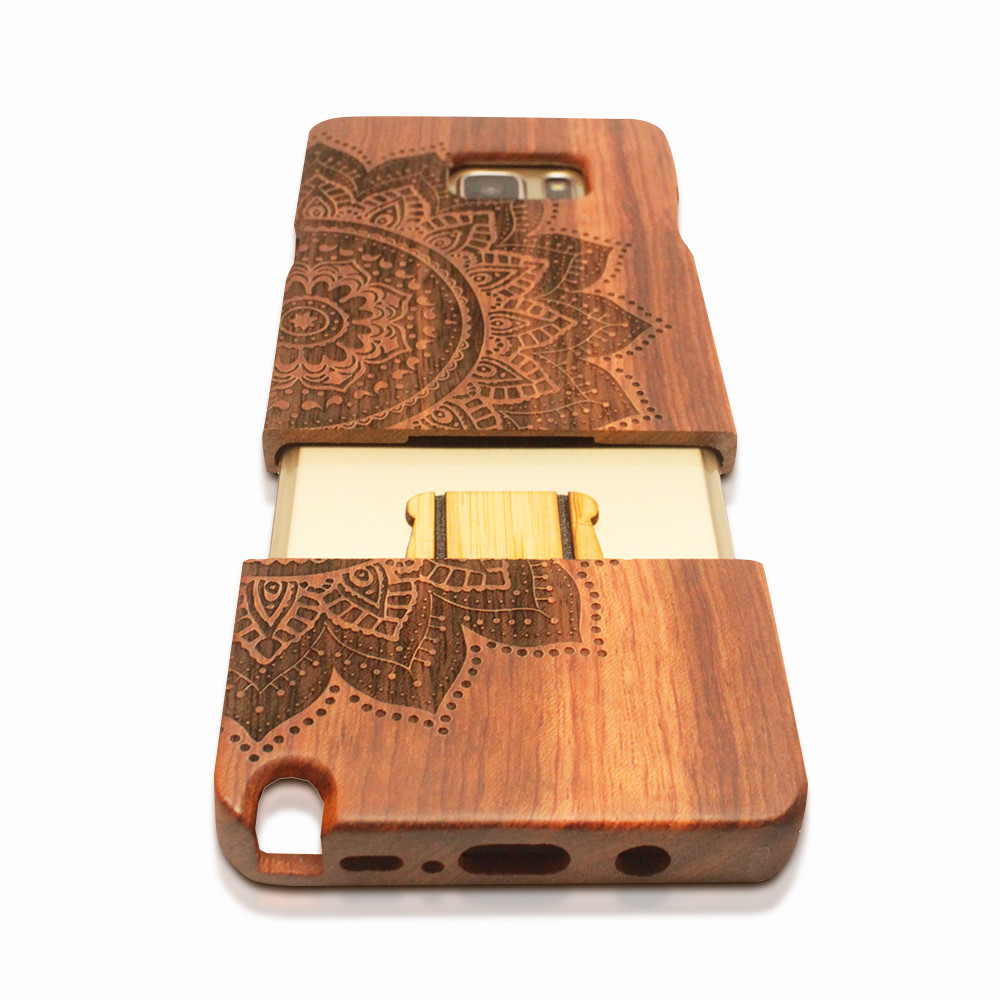 samsung 6 cases High Quality Genuine Real Log Wood Wooden case