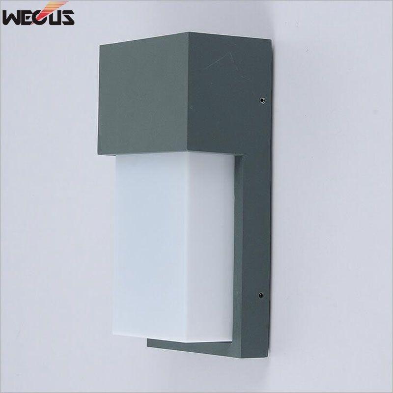 Enkel utomhus vägglampa, LED vattentät utomhus vägglampa, villa gård gånggång LED vägglampa