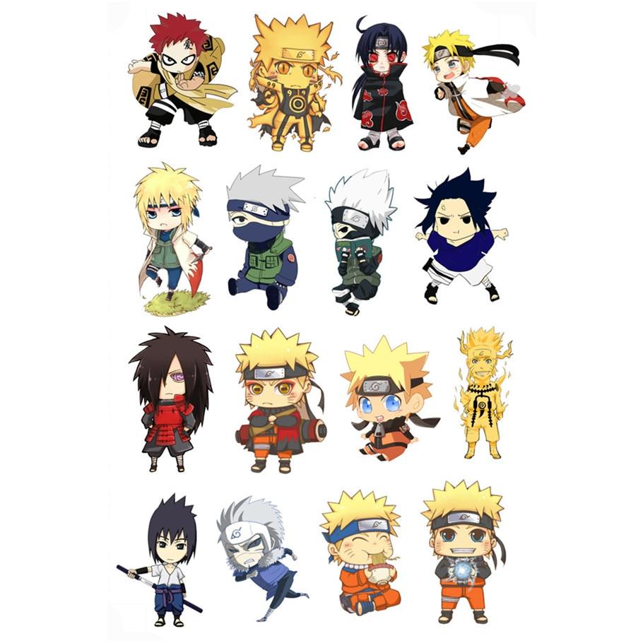 Naruto gaara sasuke stiker cup kulkas koper sepeda loker laptop mobil stiker dinding dekorasi rumah decal hadiah anak mainan 8 pcs set di wall stickers dari