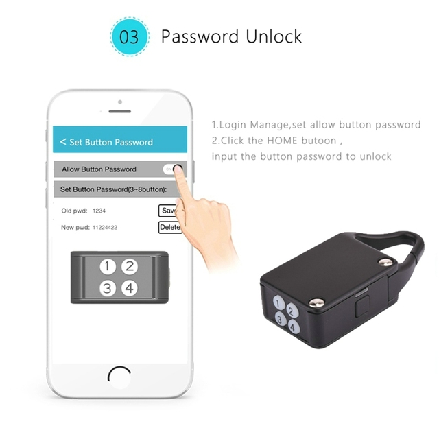 Latest Smart Bluetooth Padlock Wireless Control Nathlock Remote Control Padlock Smart Lock Compatible with IOS/Android APP