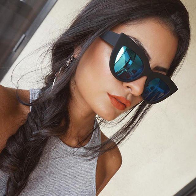 HTB1cwqORpXXXXXdXFXXq6xXFXXXA - Women's cat eye sunglasses ladies Plastic Shades quay eyewear brand designer black pink sunglasses PTC 221