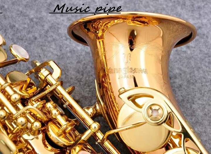 New Yanagisawa SC-992 Soprano Saxophone B Flat Gold Plated High Quality Brass Professional Sax Instruments With Mouthpiece tenor saxophone free shipping selmer instrument saxophone wire drawing bronze copper 54 professional b mouthpiece sax saxophone