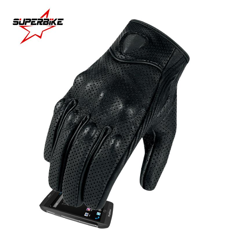 Prix pour Moto gants moto gp gant en cuir tactile écran pour hommes motocross chèvre vélo racing gants moto luvas da motocicleta