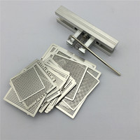 29pcs Universal Direct Heating BGA Stencils Templates Reballing Jig For Chip Rework Repair Soldering Kit