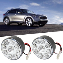 27W LED Car Lights Daytime Running Lights Work Lights Round Lamps Black 9 LED Round Work Lights Auto Car Fog Lamps