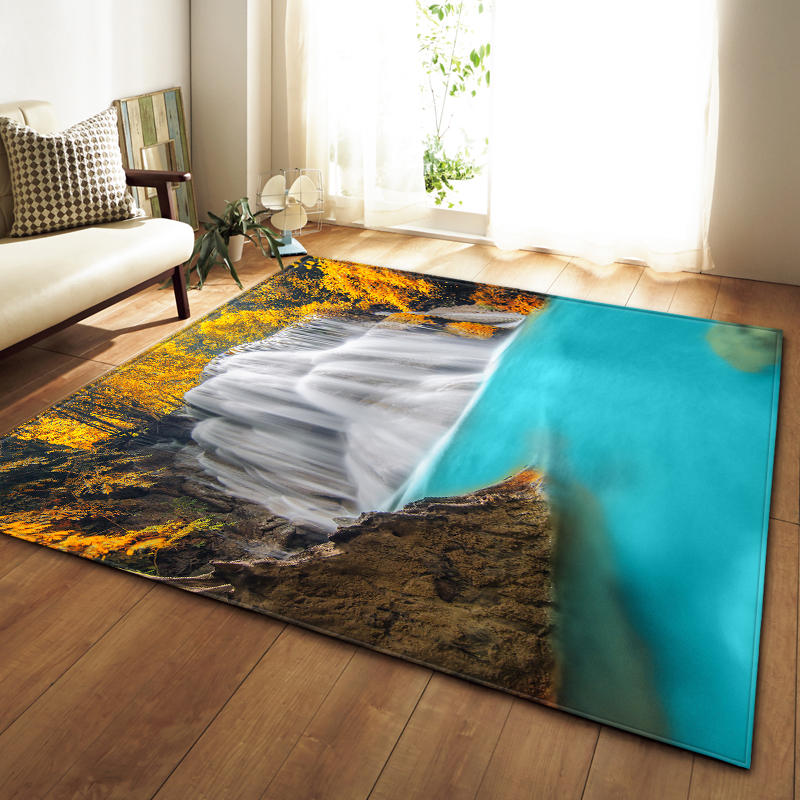 Tapis doux flanelle 3D imprimé petits tapis salon galaxie espace tapis tapis anti-dérapant grand tapis tapis pour salon décor