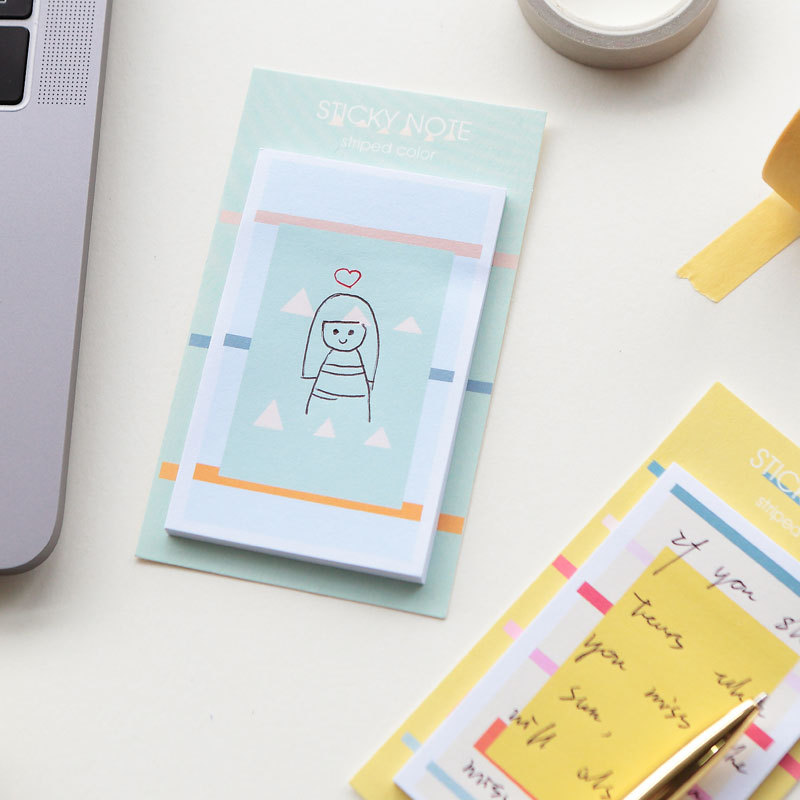 4 pcs Pure and fresh stick memo pad Post lovable schedule book page marker Stationery Office School supplies FM117