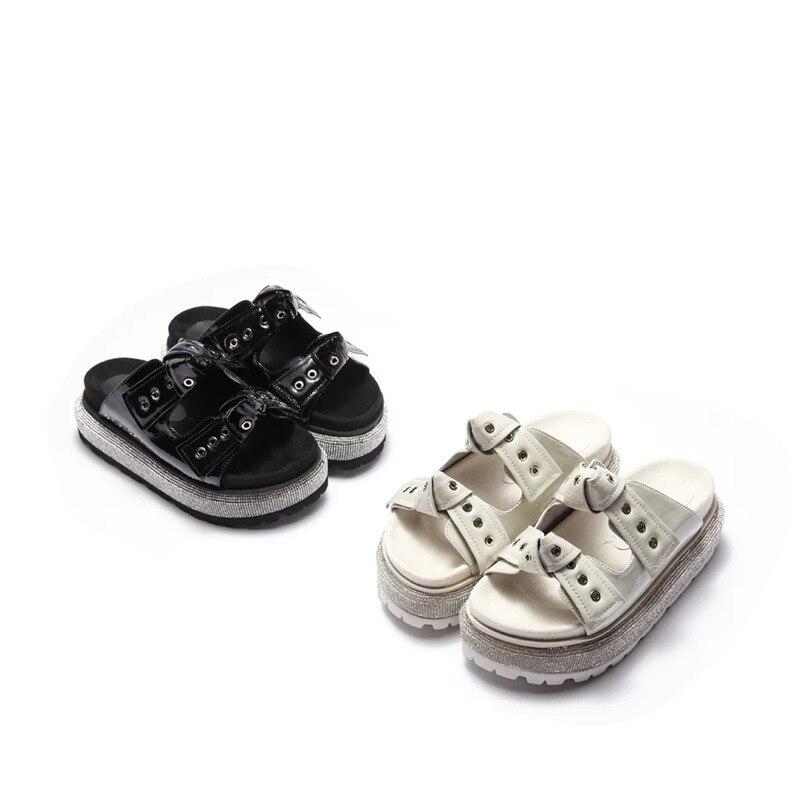 Sommer Plattform Pantuflas Chunky Black white flops Hausschuhe Sandalen Flip Pantoffel Mujer Schuhe Delivr Strand Casual Frauen wI0qz0FA