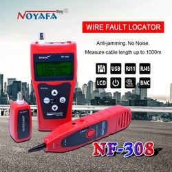 شبكة مراقبة كابل اختبار LCD NF-308 سلك خطأ محدد LAN شبكة Coacial BNC USB RJ45 RJ11 الأحمر اللون NF_308