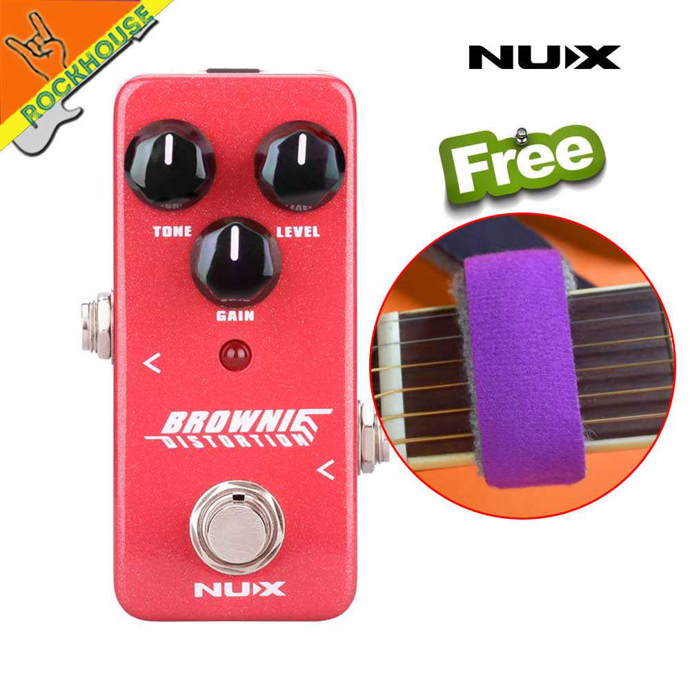 New NUX Mini Core Brownie Distortion Guitar Effects Pedal Classical British Rock Tone Brown Sound True Bypass Free Shipping nux pmx 2 multi channel mini mixer 30