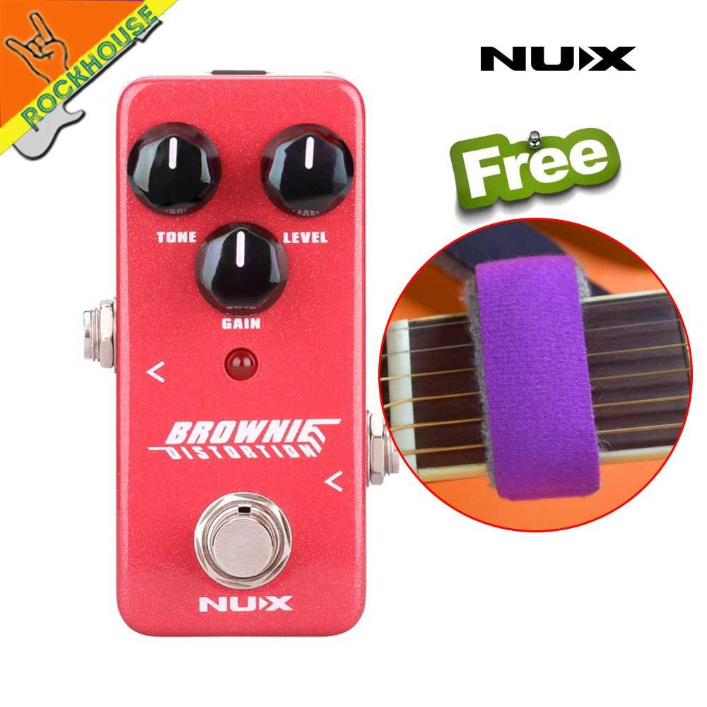 Новый НУКС мини-ядро Брауни искажение гитары педаль эффектов классический британский рок-тон коричневый звук правда обход Бесплатная доставка