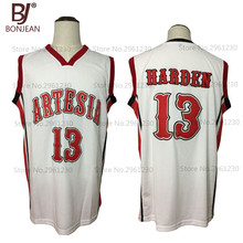 BONJEAN New Cheap Throwback Basketball Jersey James Harden 13 Artesia High  School Jersey 2 Color Stitched efddecc7f