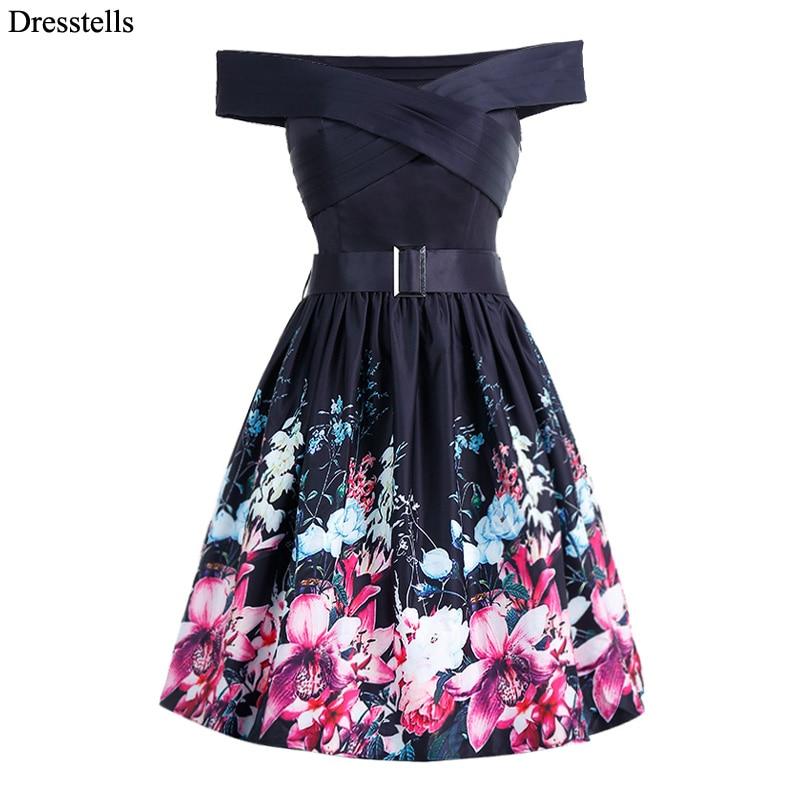 Black vintage style cocktail dress