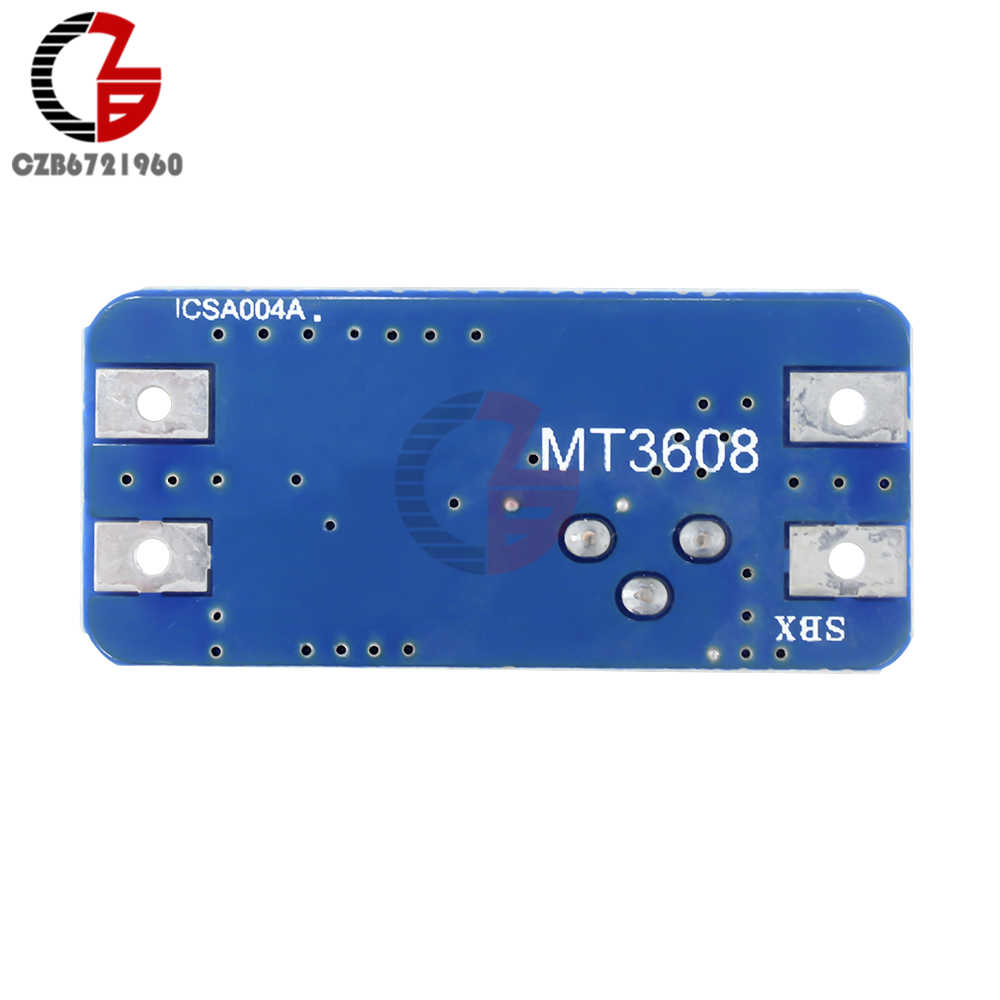 MT3608 خطوة حتى دفعة وحدة سرية 12 فولت 2A DC-DC الجهد المنظم الداعم قابل للتعديل محول الطاقة امدادات الجهد