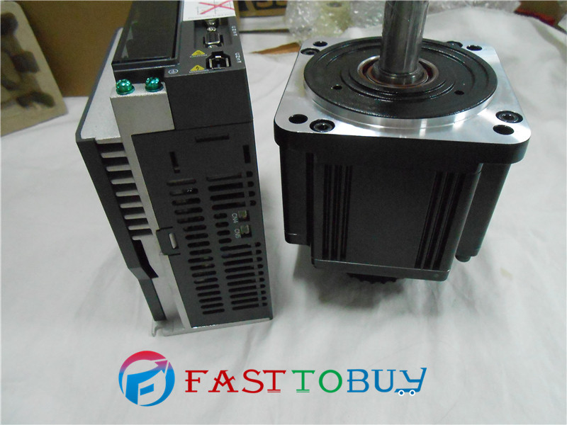 Delta CNC 220V 2KW AC Servo Keyway Motor Drive kits System 6.37NM 3000r/min 100mm ECMA-C11020RS+ASD-A2-2023-M with 3M cable цена