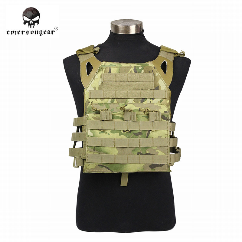 Emerson 1000D Nylon Molle JPC Hunting Vest Simplified Version Military Chest Protective Plate Carrier Vest Army Camo emerson 1000d molle jpc airsoft tactical vest simplified version outdoor training paintball hunting vest plate carrier em7344
