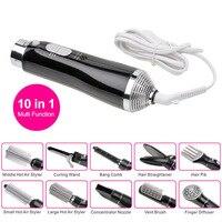 YOHOLOO 10 In 1 Multifunction Hot Air Brush Styler Electric Hair Blow Dryer Hairdryer Hair Curler Straightening Styling Tools
