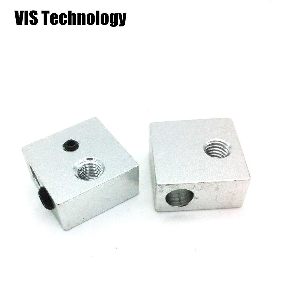 Алюминиевый тепловой блок 20*20*10 мм для экструдера J-head RepRap Makerbot MK7/MK8, 5 шт.