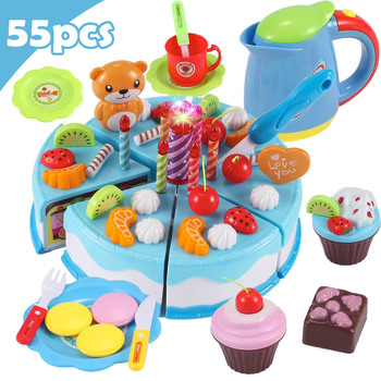 Children DIY Pretend Play Fruits Cutting Birthday Cake Kitchen Food Toys Cocina De Juguete Toy Colorful Girls Birthday Gift Kids 38 80pcs diy pretend play fruit cutting birthday cake kitchen food toys cocina de juguete toy children girls christmas gift toys